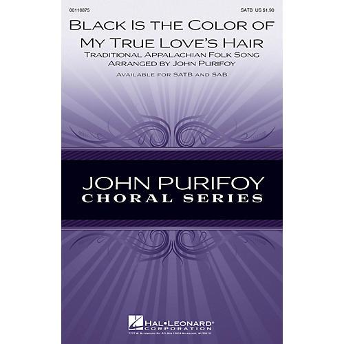 Hal Leonard Black Is the Color of My True Love's Hair SAB Arranged by John Purifoy