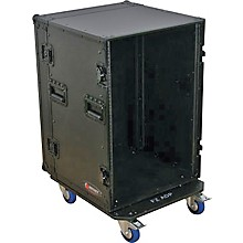 Odyssey Black Label 16-Space Amp Rack with Wheels