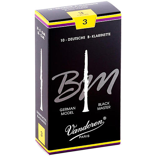 Vandoren Black Master Bb Clarinet Reeds Strength 3, Box of 10