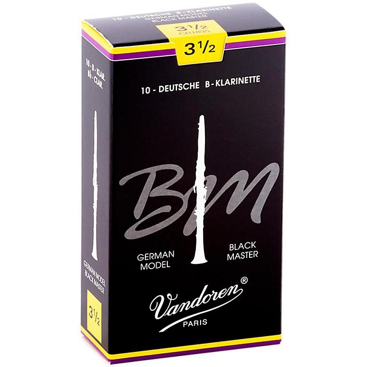 VandorenBlack Master Bb Clarinet ReedsStrength 3.5, Box of 10