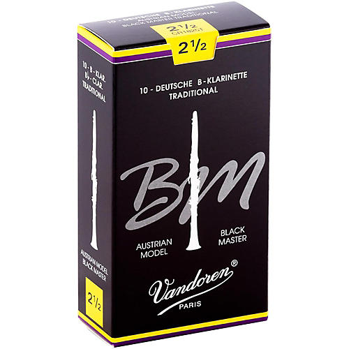Vandoren Black Master Traditional Bb Clarinet Reeds Box of 10, Strength 6-thumbnail