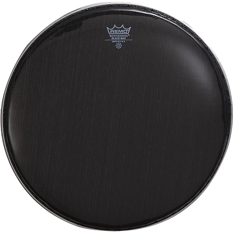 Remo Black Max Crimped Marching Snare Drum Head Ebony 14 Inches