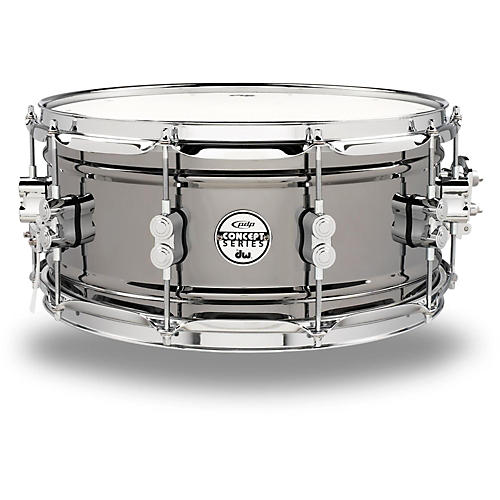 Pdp black nickel over steel snare drum 14x6 5 inch for Yamaha stage custom steel snare drum 14x6 5