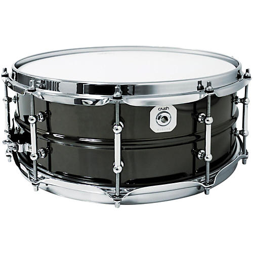 Crush Drums & Percussion Black Nickel Plated Beaded Steel Snare Drum-thumbnail