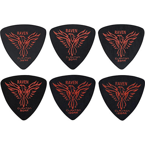 Clayton Black Raven Rounded Triangle Guitar Picks