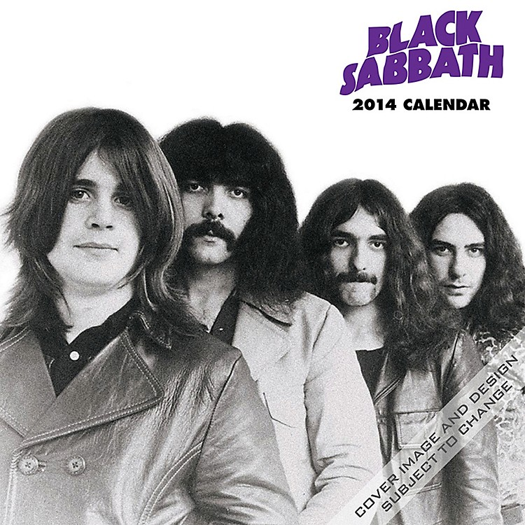 Browntrout Publishing Black Sabbath Calendar Square 12x12