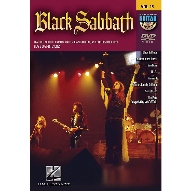 Hal Leonard Black Sabbath Guitar Play-Along Series Volume 15 DVD