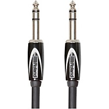 "Roland Black Series 1/4"" TRS - 1/4"" TRS Balanced Interconnect Cable 10 ft. Black"