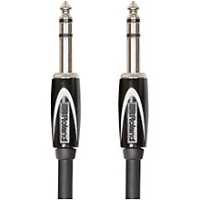 "Roland Black Series 1/4"" TRS - 1/4"" TRS Balanced Interconnect Cable"