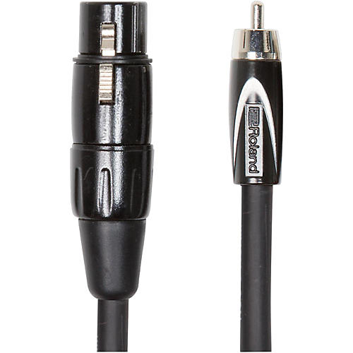 Roland Black Series XLR (Female) - RCA Interconnect Cable-thumbnail