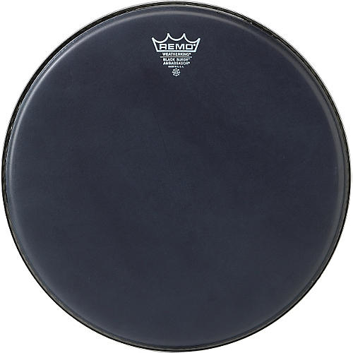 Remo Black Suede Ambassador Batter Drumhead 14 in.