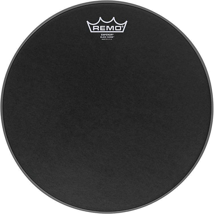 RemoBlack Suede Emperor Batter Drumhead18