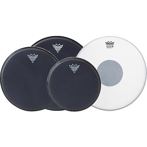 Remo Black Suede Emperor Fusion ProPack with Free Emperor X