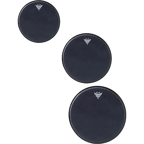 Remo Black Suede Emperor Rock Tom Drumhead Pack