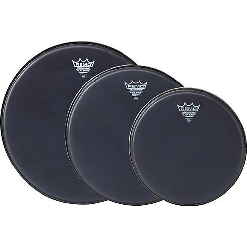 Remo Black Suede Emperor Standard Tom Pack