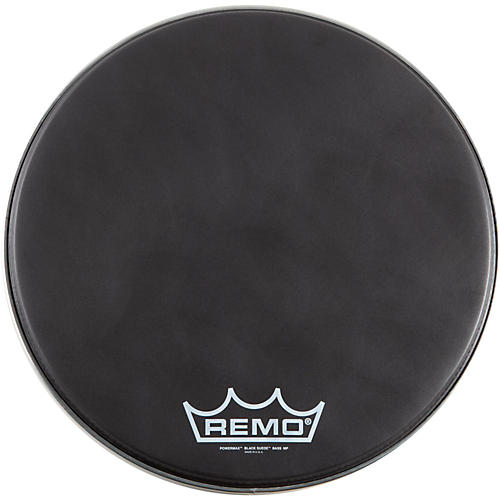 Remo Black Suede PowerMax Marching Bass Drumhead Matte Black 24