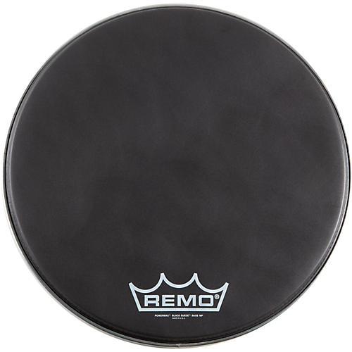 Remo Black Suede PowerMax Series Bass Drumhead with Crimplock Matte Black 14