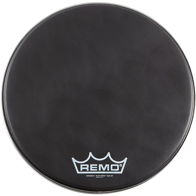 Remo Black Suede PowerMax Series Bass Drumhead with Crimplock matte black 18