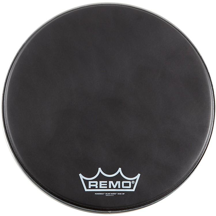 RemoBlack Suede PowerMax Series Bass Drumhead with Crimplockmatte black20