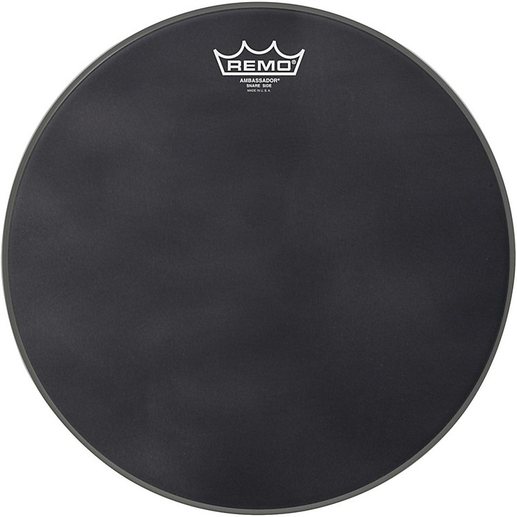 Remo Black Suede Series Snare Side Drumhead matte black 14