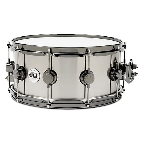 DW Black-Ti Snare Drum 14 x 5.5 in. Black Nickel Hardware