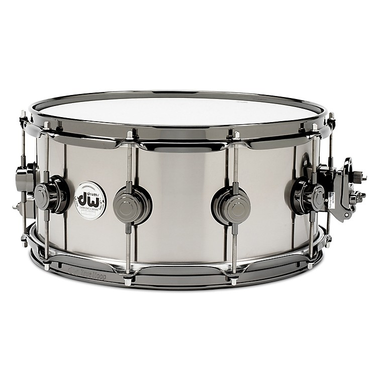 DW Black-Ti Snare Drum 14x6.5 Black Nickel Hardware