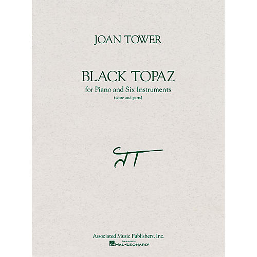 Associated Black Topaz (Score and Parts) Ensemble Series Composed by Joan Tower-thumbnail