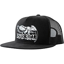 Ernie Ball Black Trucker Cap w/ Ernie Ball Eagle
