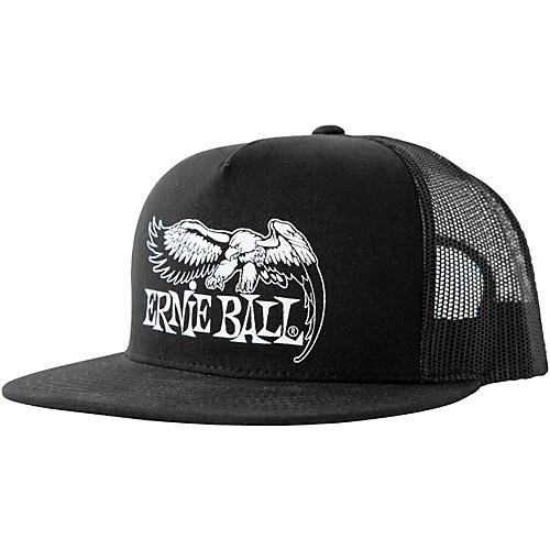 Ernie Ball Black Trucker Cap w/ Ernie Ball Eagle-thumbnail