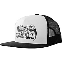 Ernie Ball Black & White Trucker Cap w/ Ernie Ball Eagle