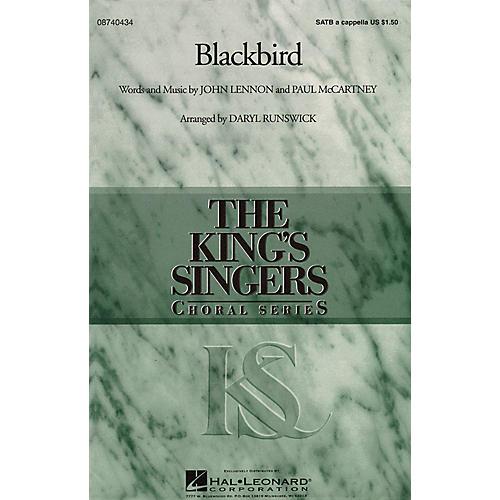 Hal Leonard Blackbird SATB DV A Cappella by The King's Singers arranged by Daryl Runswick
