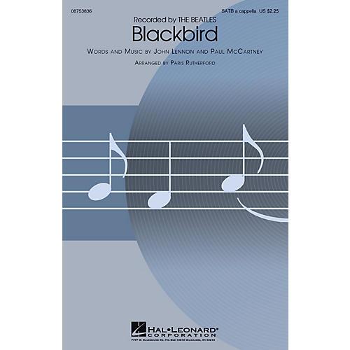 Hal Leonard Blackbird SATB a cappella by The Beatles arranged by Paris Rutherford-thumbnail