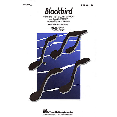Hal Leonard Blackbird SATB by The Beatles arranged by Mark Brymer-thumbnail
