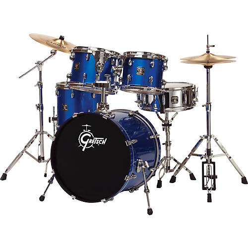 Gretsch Drums Blackhawk 5-Piece Euro Drum Set with Sabian Cymbals-thumbnail