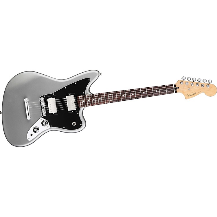 Fender Blacktop Jaguar HH Electric Guitar Silver Rosewood