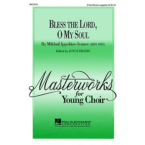 Hal Leonard Bless the Lord, O My Soul (Op. 37, No. 2) TTB A Cappella Arranged by Joyce Eilers-thumbnail