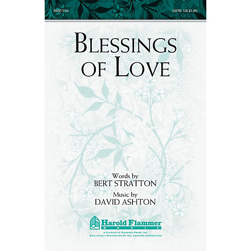 Shawnee Press Blessings of Love SATB composed by David Ashton