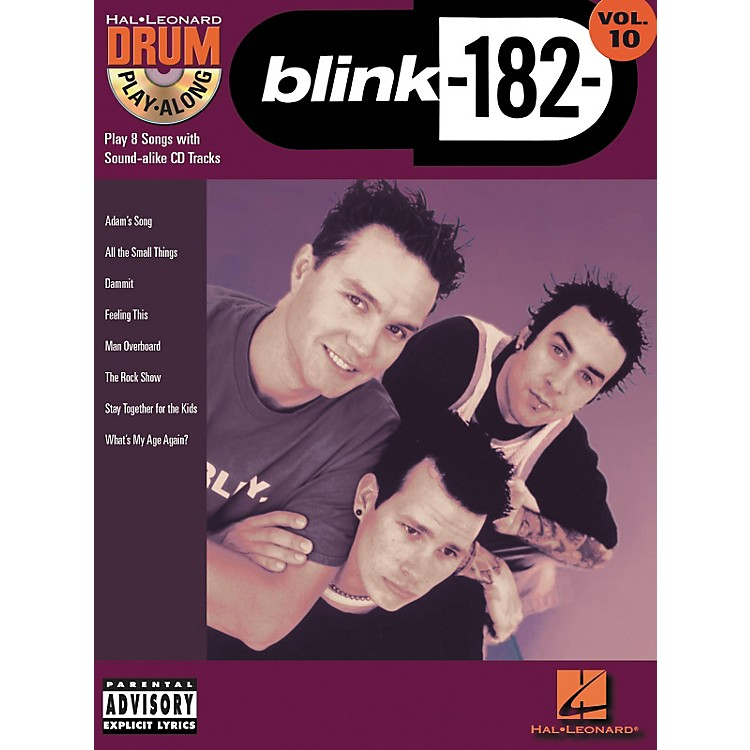 Hal LeonardBlink 182 Drum Play-Along Series Volume 10 (Book/CD)