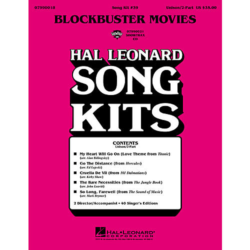 Hal Leonard Blockbuster Movies (Song Kit #39) ShowTrax CD Arranged by John Leavitt