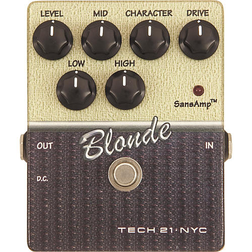 Tech 21 Blonde SansAmp Character Series CS-BL Distortion Guitar Effects Pedal