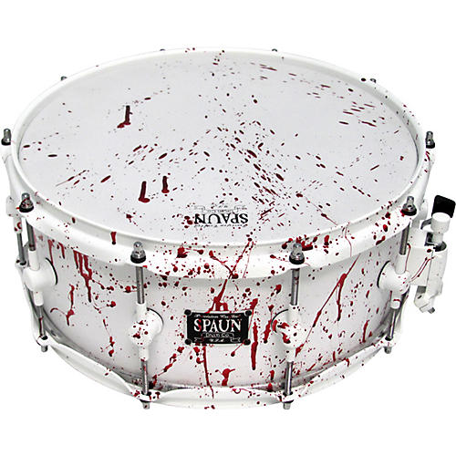 Spaun Blood Spatter Maple Snare Drum 6x14