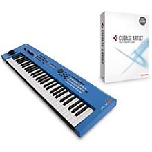 Yamaha Blue 61 Key Music Production Synthesizer With Cubase Artist