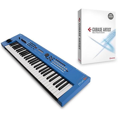 Yamaha Blue 61 Key Music Production Synthesizer With Cubase Artist-thumbnail