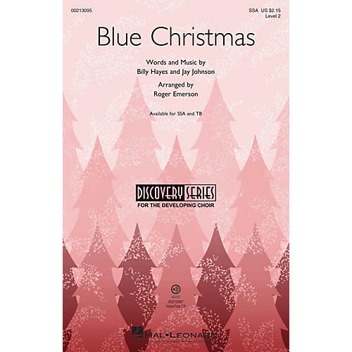 Hal Leonard Blue Christmas (Discovery Level 2) SSA arranged by Roger Emerson-thumbnail