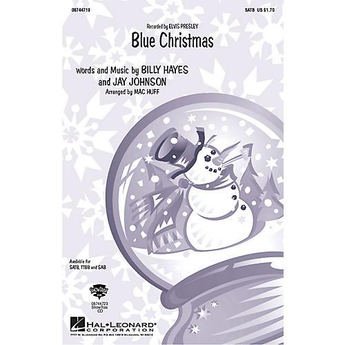 Hal Leonard Blue Christmas TTBB by Elvis Presley Arranged by Mac Huff