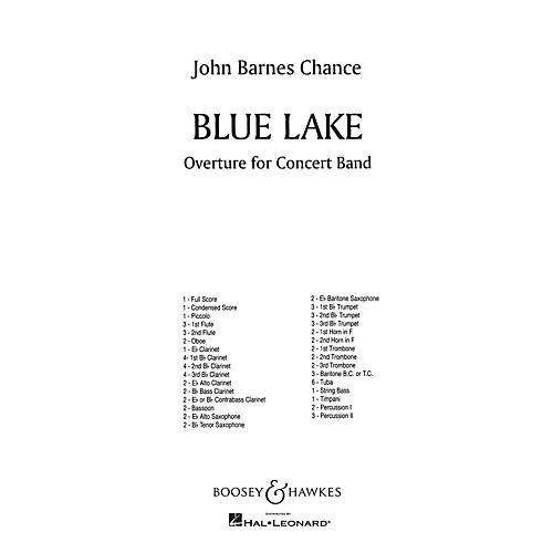 Boosey and Hawkes Blue Lake (Full Score) Concert Band Composed by John Barnes Chance-thumbnail