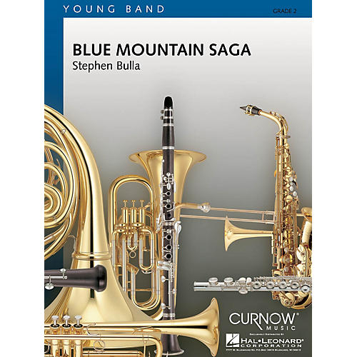 Curnow Music Blue Mountain Saga (Grade 2 - Score Only) Concert Band Level 2 Composed by Stephen Bulla-thumbnail