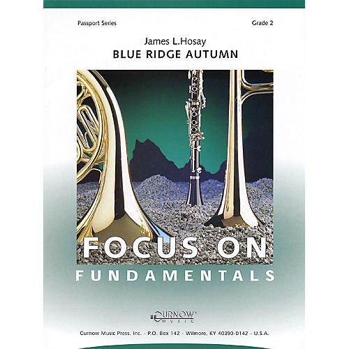 Curnow Music Blue Ridge Autumn (Grade 2 - Score Only) Concert Band Level 2 Composed by James L Hosay-thumbnail