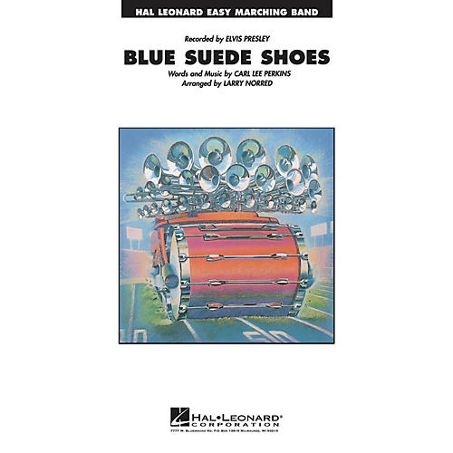Hal Leonard Blue Suede Shoes Marching Band Level 2-3 Arranged by Larry Norred-thumbnail