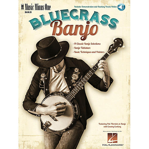 Music Minus One Bluegrass Banjo (Deluxe 2-CD Set) Music Minus One Series Softcover with CD